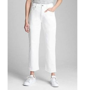 NWT Gap High Rise Wide Straight Jeans 28 White c72